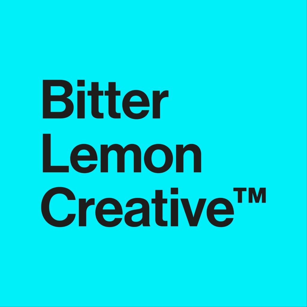 bitter lemon creative on blue